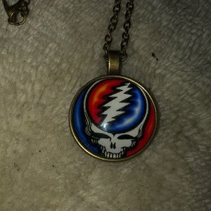 New steel your face necklace